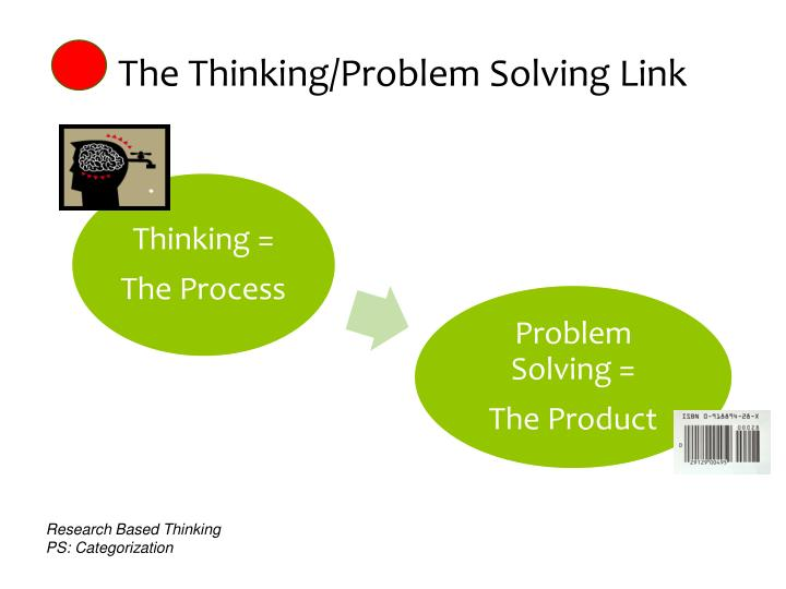 The Thinking/Problem Solving Link