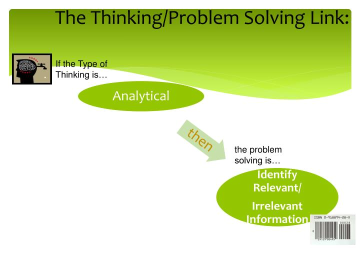 The Thinking/Problem Solving Link: