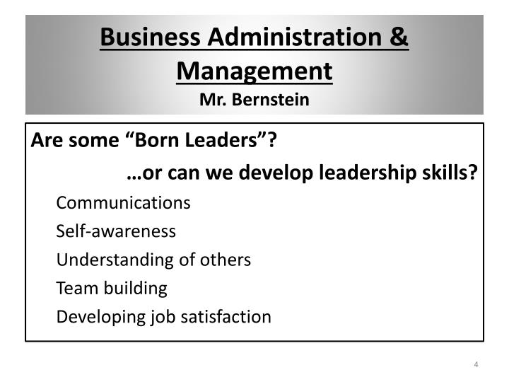 Business Administration & Management