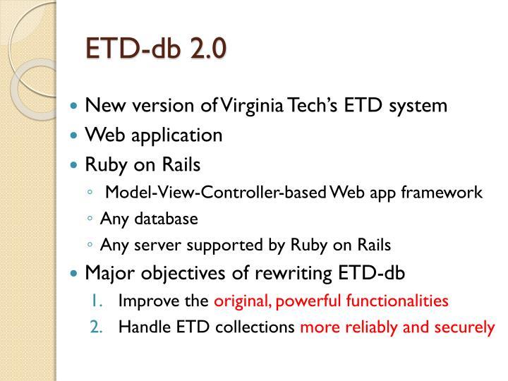 ETD-db 2.0