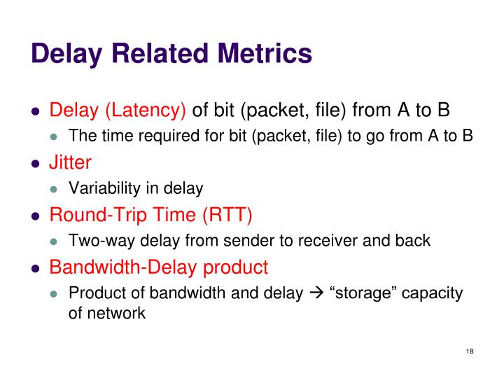 Delay Related Metrics