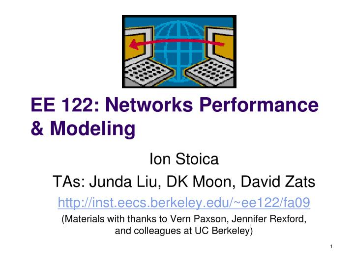 Ee 122 networks performance modeling