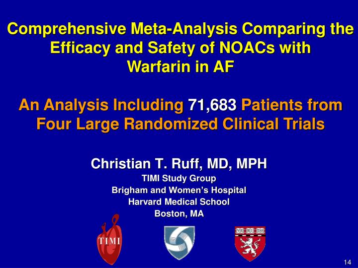 Comprehensive Meta-Analysis Comparing the Efficacy and Safety of NOACs with