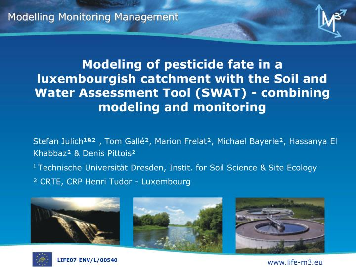 Modeling of pesticide fate in a