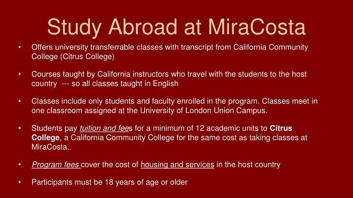 Study Abroad at