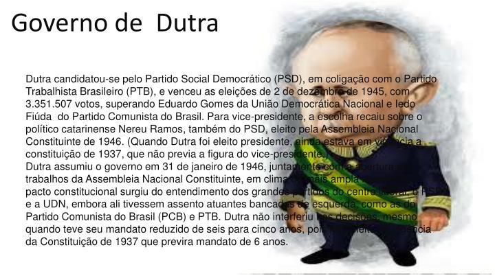 Governo de Dutra