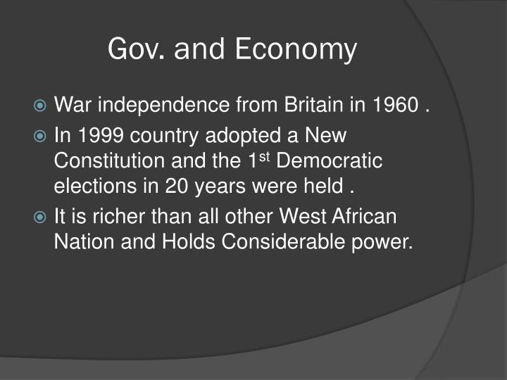 Gov. and Economy