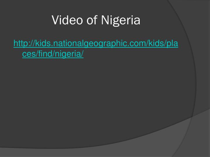 Video of nigeria