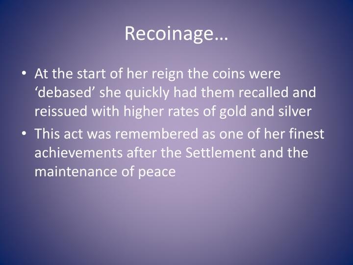Recoinage