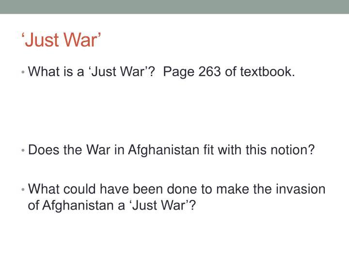 'Just War'