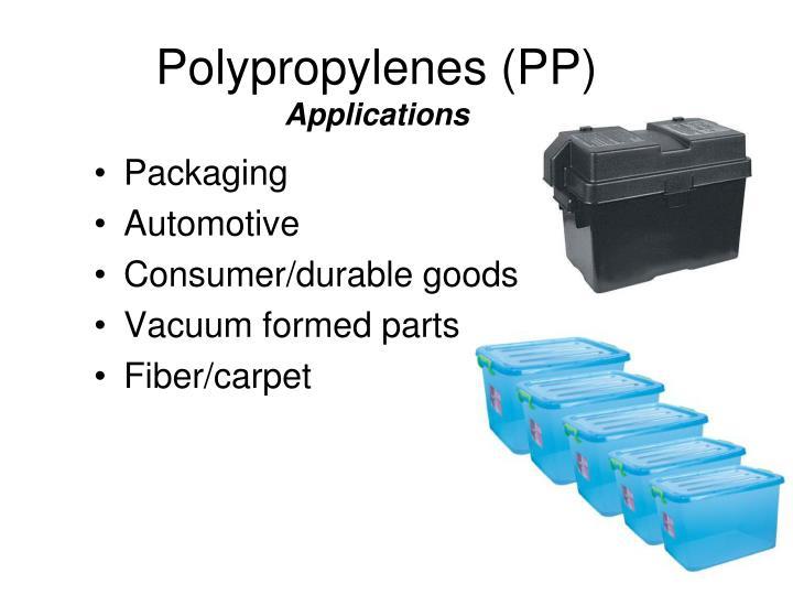 Polypropylenes (PP)