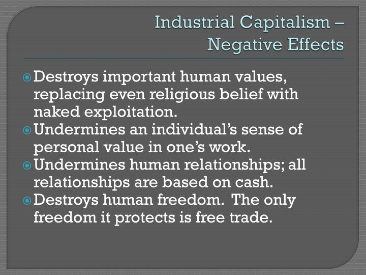 Industrial Capitalism –