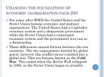 changing the foundations of economic globalization page 230