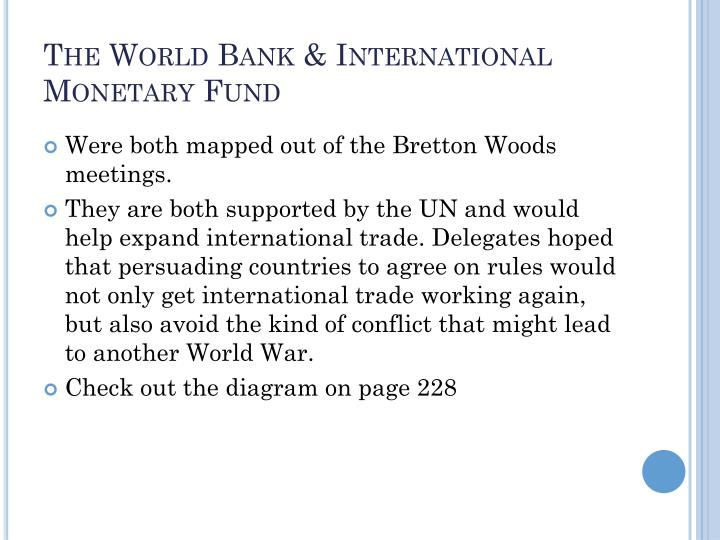 The World Bank & International Monetary Fund