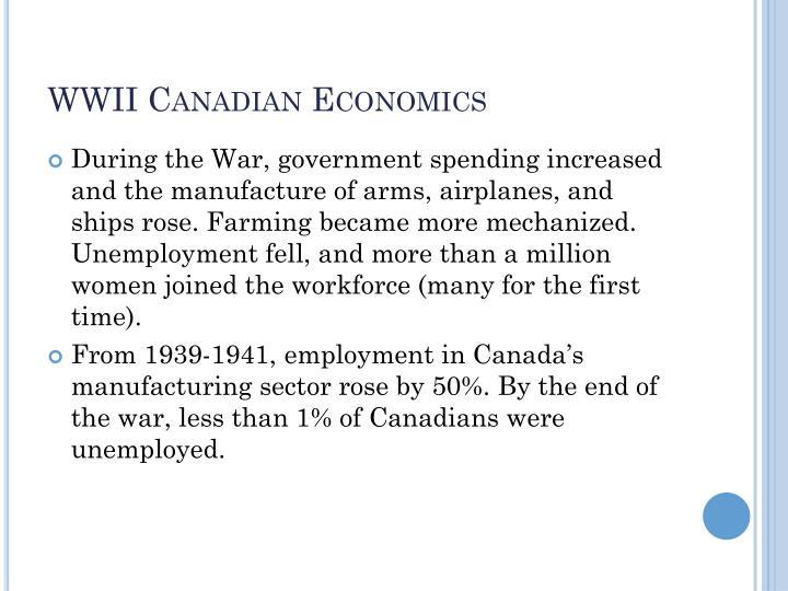 WWII Canadian Economics