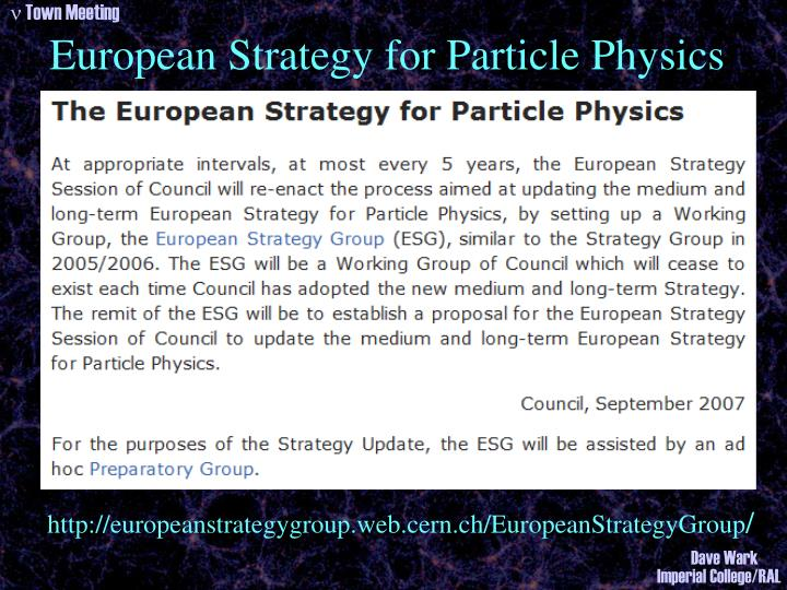 European Strategy for Particle Physics