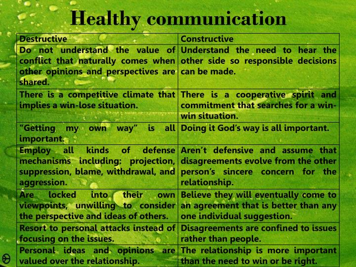 Healthy communication