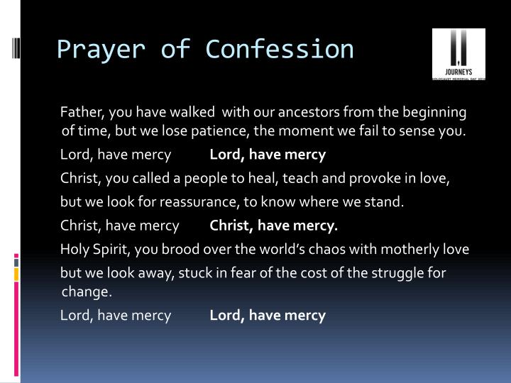 Prayer of Confession