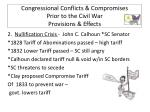 congressional conflicts compromises prior to the civil war provisions effects1