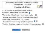 congressional conflicts compromises prior to the civil war provisions effects2