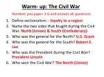 warm up the civil war number you paper 1 6 and answer all questions1