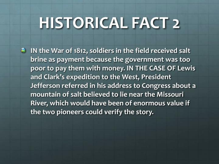 HISTORICAL FACT 2