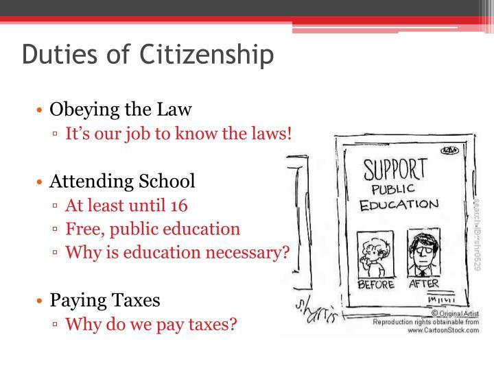 Duties of Citizenship