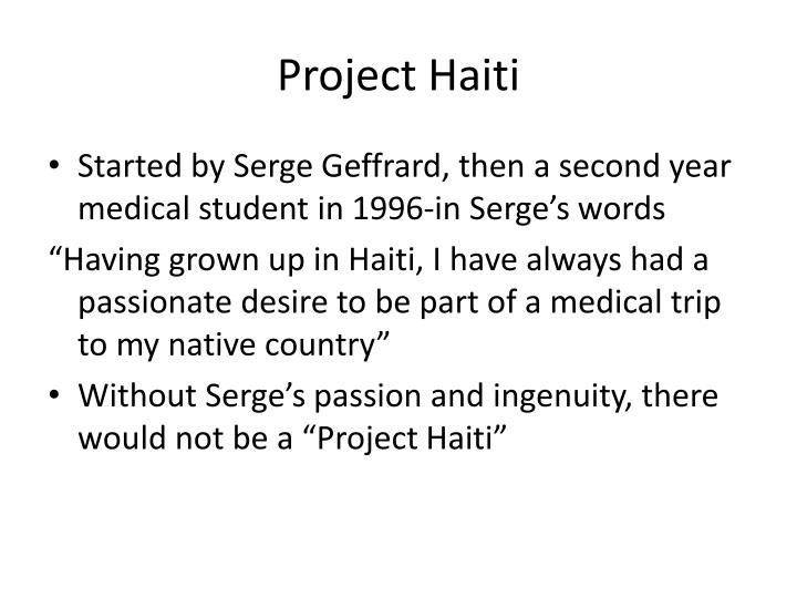 Project Haiti