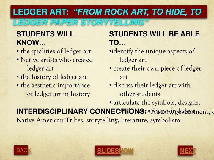 LEDGER ART: