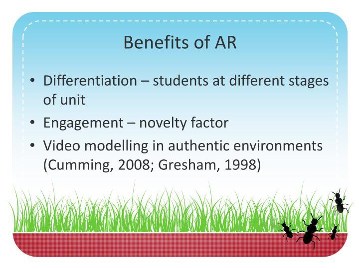Benefits of AR