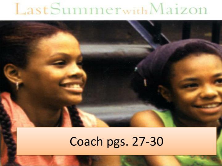 Coach pgs. 27-30