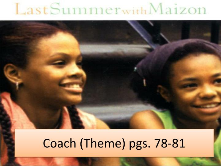 Coach (Theme) pgs. 78-81