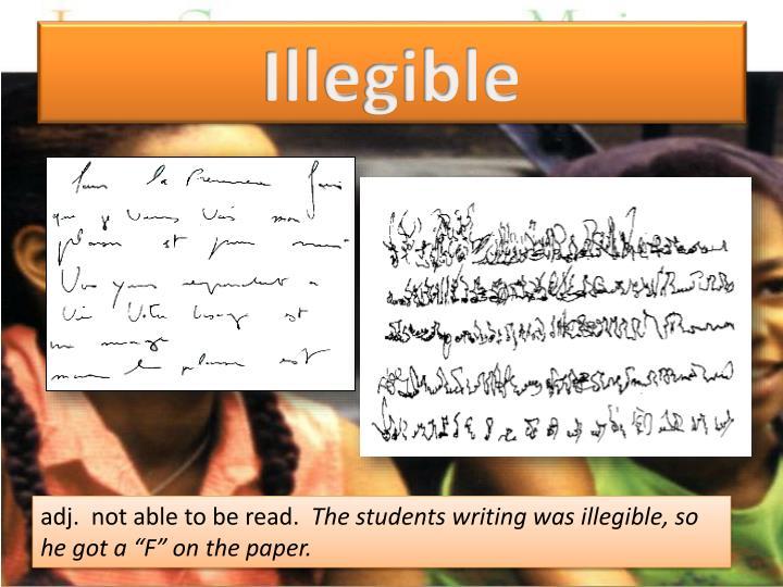 Illegible