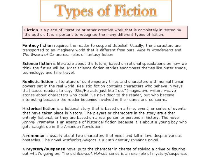 Types of Fiction