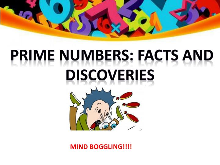 prime numbers: facts and