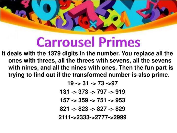 Carrousel Primes