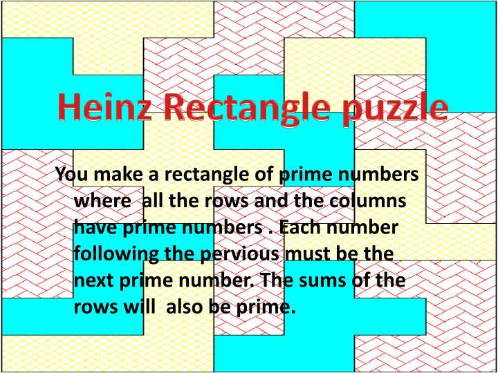 Heinz Rectangle puzzle