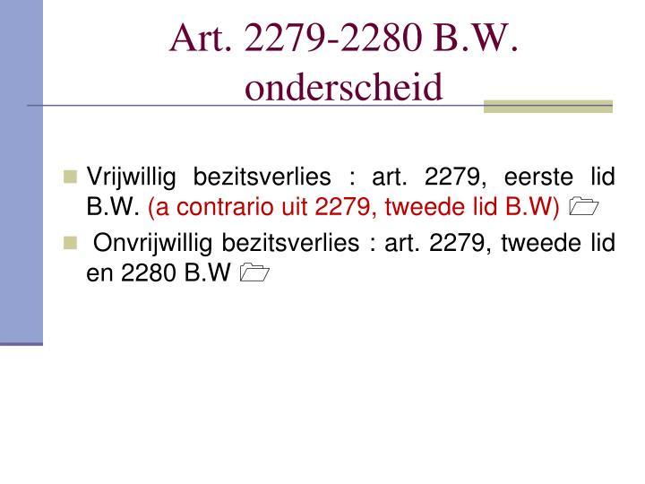 Art. 2279-2280 B.W.