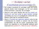 evolutie van het constitutum possessorium 1