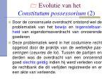 evolutie van het constitutum possessorium 2