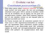 evolutie van het constitutum possessorium 3