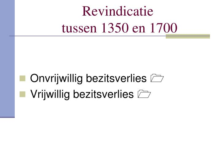 Revindicatie