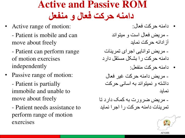 Active and Passive ROM