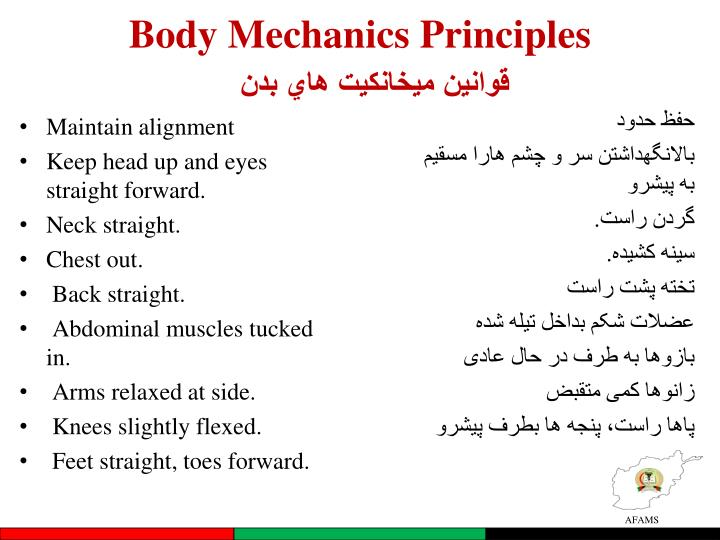 Body Mechanics Principles