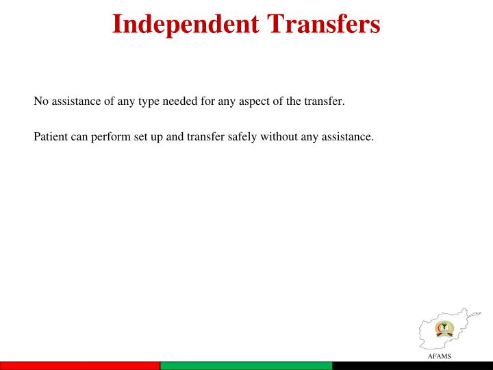 Independent Transfers