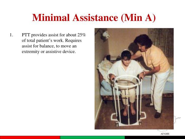 Minimal Assistance (Min A)