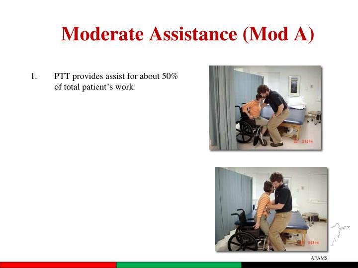 Moderate Assistance (Mod A)
