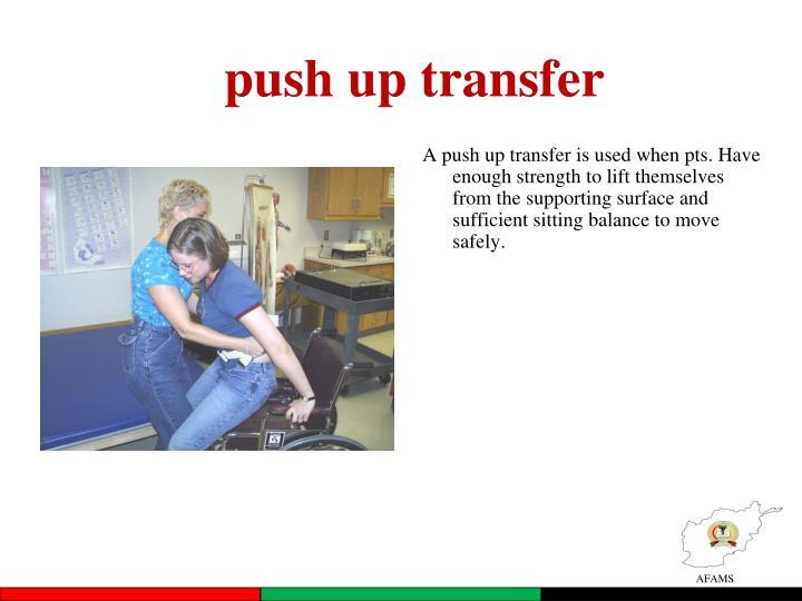 push up transfer