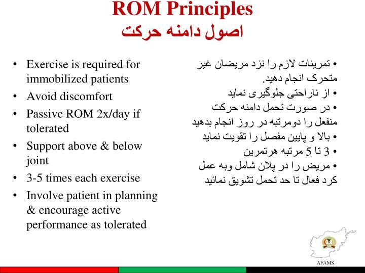 ROM Principles