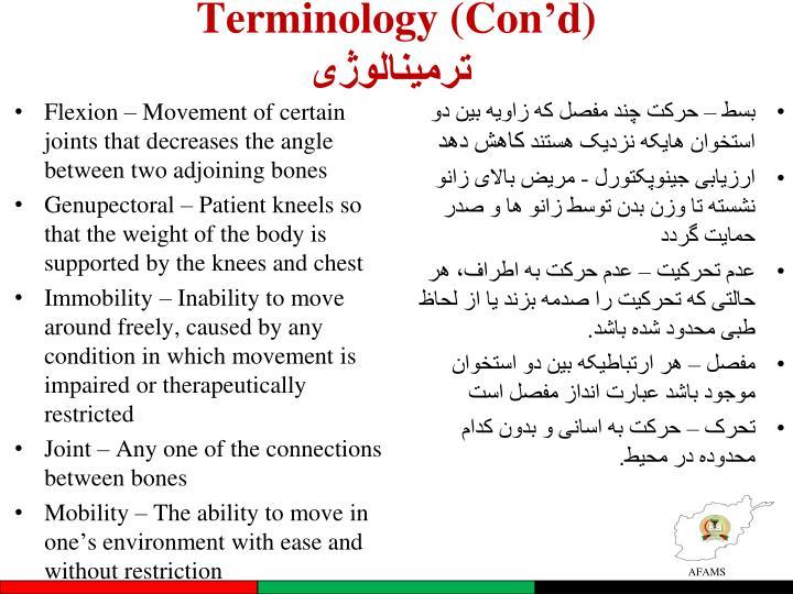 Terminology (